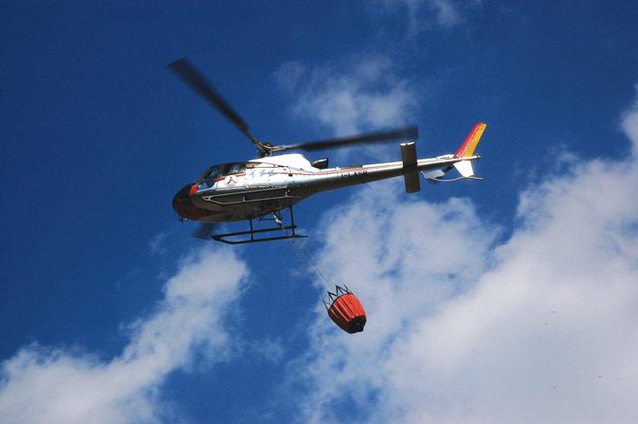 Elicottero Bipala : Incendio
